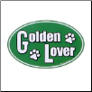 Dog Lover Car Magnet - Golden Lover by Kyjen (SKU: DB-MagGoldenLover)