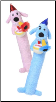 Birthday Loofa Plush Dog Toy by Multipet