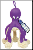 Squeaky Purple Octopus Dog Toy