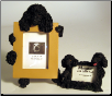 Black Poodle Photo & Magnet Frame Set