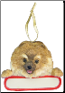 Pomeranian Holiday Personalized Ornament (SKU: DBORN-PomPers)