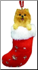 Pomeranian Holiday Ornament (SKU: DBORN-Pomeranian)