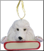Poodle Holiday Personalized Ornament (SKU: DBORN-PoodlePers)