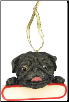 Pug Holiday Personalized Ornament (SKU: DBORN-PugPers)