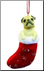 Pug Holiday Ornament (SKU: DBORN-Pug)