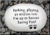 Barking, Playing an Endless Run Ceramic Garden Rock for Dog Lover (SKU: AC-R213)