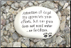 Attention All Dogs! Ceramic Garden Rock for Dog Lover (SKU: AC-R261)