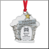 Happy Howlidays - Pewter Photo Ornament
