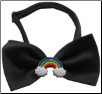 Rainbow Chipper Black or White Bow Tie (SKU: DB-RCBT)