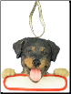 Rottweiler Holiday Personalized Ornament