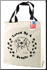 Canvas Beagle Dog Tote Bag by SJT Enterprises