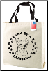 Canvas Chihuahua Dog Tote Bag by SJT Enterprises