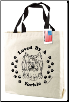 Canvas Yorkie Dog Tote Bag by SJT Enterprises
