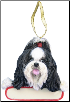 Shih Tzu Holiday Personalized Ornament (SKU: DBORN-ShihPers)