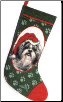 Shih Tzu Holiday Stocking