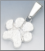 Bone Diggers - Sterling Silver Dog Paw Charm