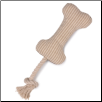 Grriggles Paw Planet Bone with Rope Dog Toy