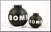 Rugged Rubber Bomb Shaped Dog Toy