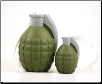 Rugged Rubber Grenade Shaped Dog Toy