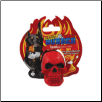 Rugged Rubber Red Skull Dog Toy