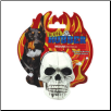 Rugged Rubber White Skull Dog Toy