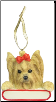 Yorkie Holiday Personalized Ornament