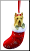 Yorkie Holiday Ornament