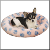 Slumber Pet Oval Beds with Pawprints