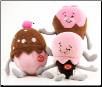Cupcake, Ice Cream, & Strawberry Dessert Plush Dog Toys (SKU: DBTOY-DessertToys)