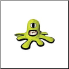 Tuffy Dog Toy Green Alien - Captain Kurklops