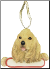 Cocker Spaniel Holiday Personalized Ornament (SKU: DBORN-CocSpaPers)