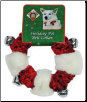 Red & White Bell Holiday Dog Collar