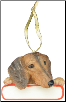 Dachshund Holiday Personalized Ornament (SKU: DBORN-DachsPers)