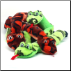 Invincible Snake Dog Toy - Red or Green by Kyjen (SKU: DBToy-PP01482)