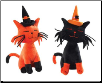 Fraidy Cat Halloween Plush Dog Toys (SKU: dbtoy-fraidycatplush)