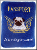 Pug Passport Plush Dog Toy by Haute Diggity Dog (SKU: dbtoy-passport)