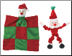 Howliday Bungee Santa and Merry Quilt Santa