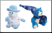 Blue Frostibles Snowman and Brr Brr Bear (SKU: DBC-snowmanbearblue)