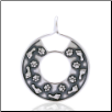 Circle of Life Pendant - Sterling Silver Dog Lover Jewelry (SKU: DPJ-1065)