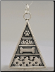 Pyramid of Life Pendant - Sterling Silver Pet Lover Jewelry