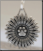 Flower Pawer Pendant - Sterling Silver Dog Lover Jewelry