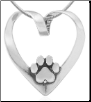 Heart Dog Slide - Sterling Silver Dog Lover Jewelry