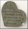Dogs Memorial Stone or Plaque (SKU: DS-3502)