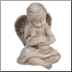 Angel Cherub with Dog Figurine (SKU: GL-469009)