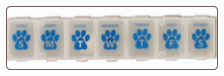 Paw Print Pill Box for Pets Medication