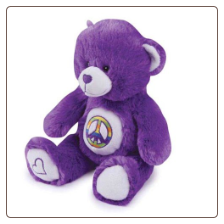 Griggles Purple Jelly Bean Bear