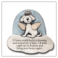 If Tears Could Build a Stairway Ceramic Magnet for Dog Lover