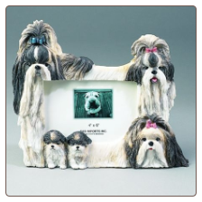 Black & White Shih Tzu Photo Frame