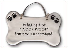 What Part of Woof Woof Ceramic Wall Plaque for Dog Lover