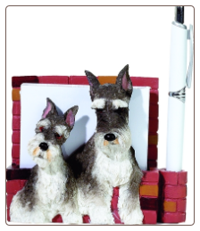 Schnauzer Pet Note Holder